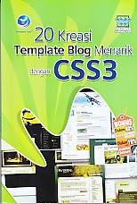 toko buku rahma: buku 20 KREASI TEMPLATE BLOG MENARIK DENAN CSSS3,pengarang wahana computer, penerbit andi