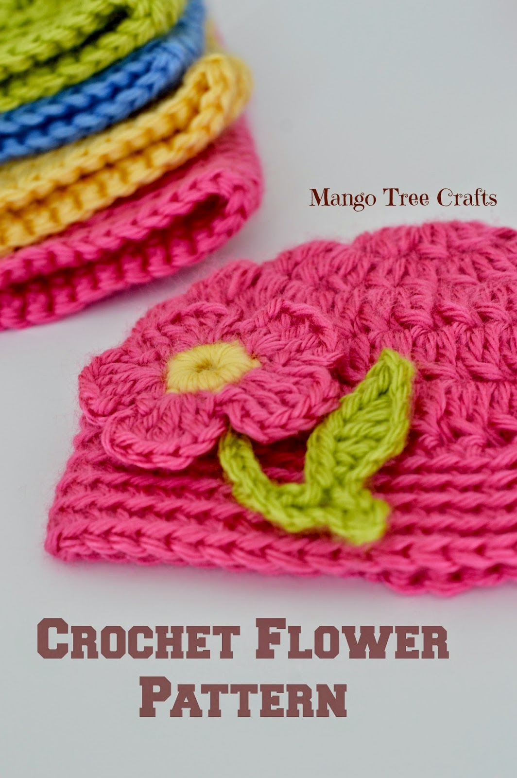 Mango Tree Crafts: Free Crochet Flower Applique Pattern