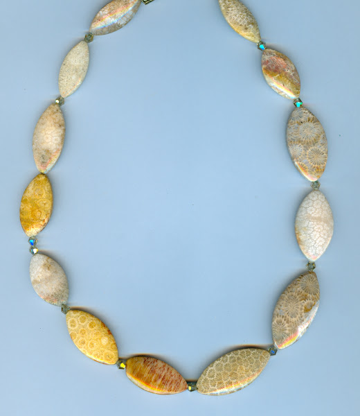 Brain Coral Fossil Beads
