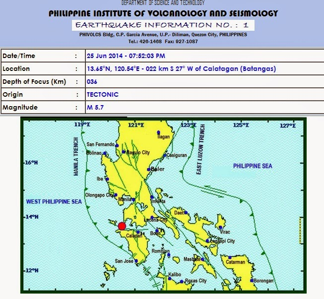 Magnitude 5.7 earthquake hits Metro Manila, Luzon areas