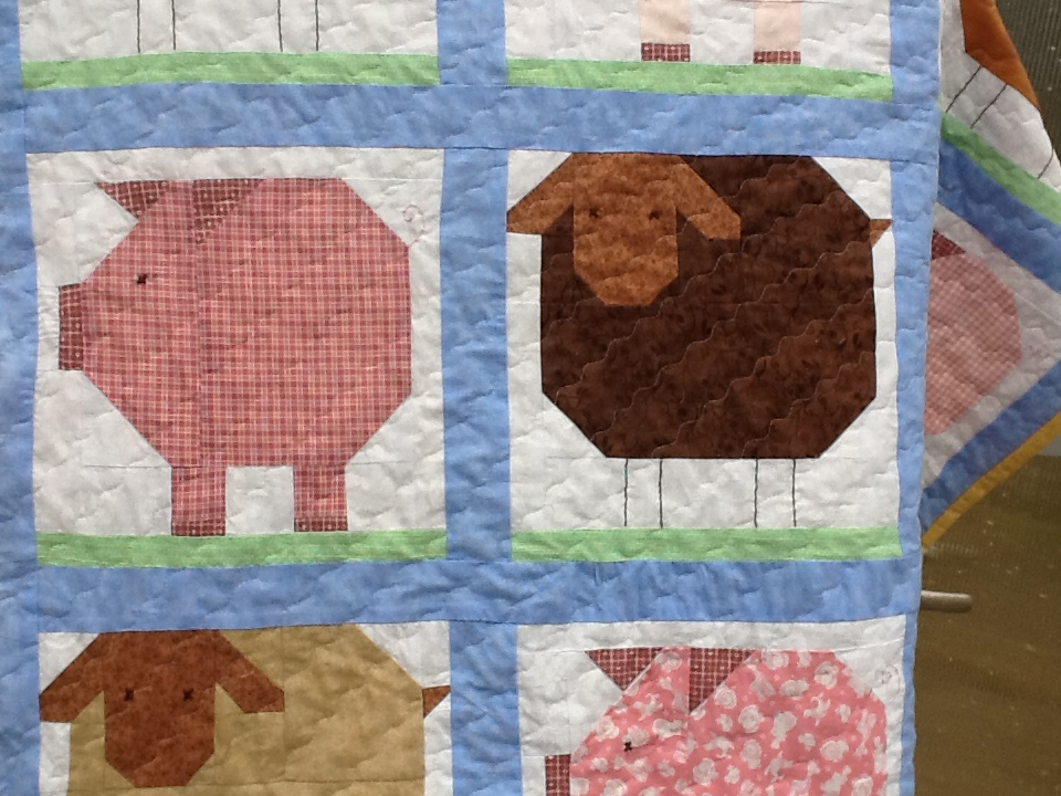 On Aunt Mildreds Porch Penny Pig And Woolly Sheep Quilt