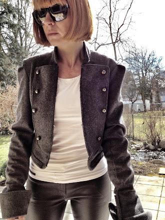 military jacket grey