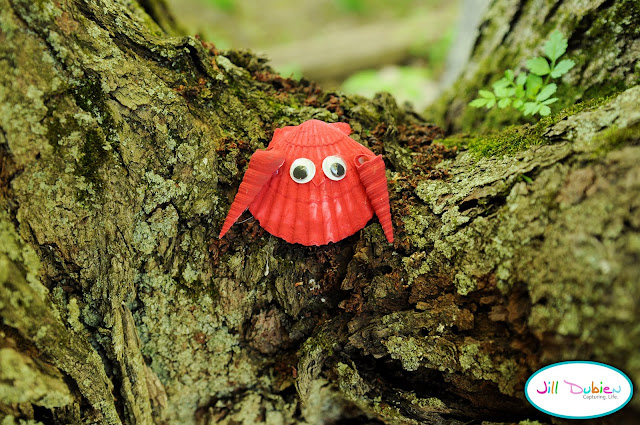 recycling ideas and tutorial: seashell crabs for kids