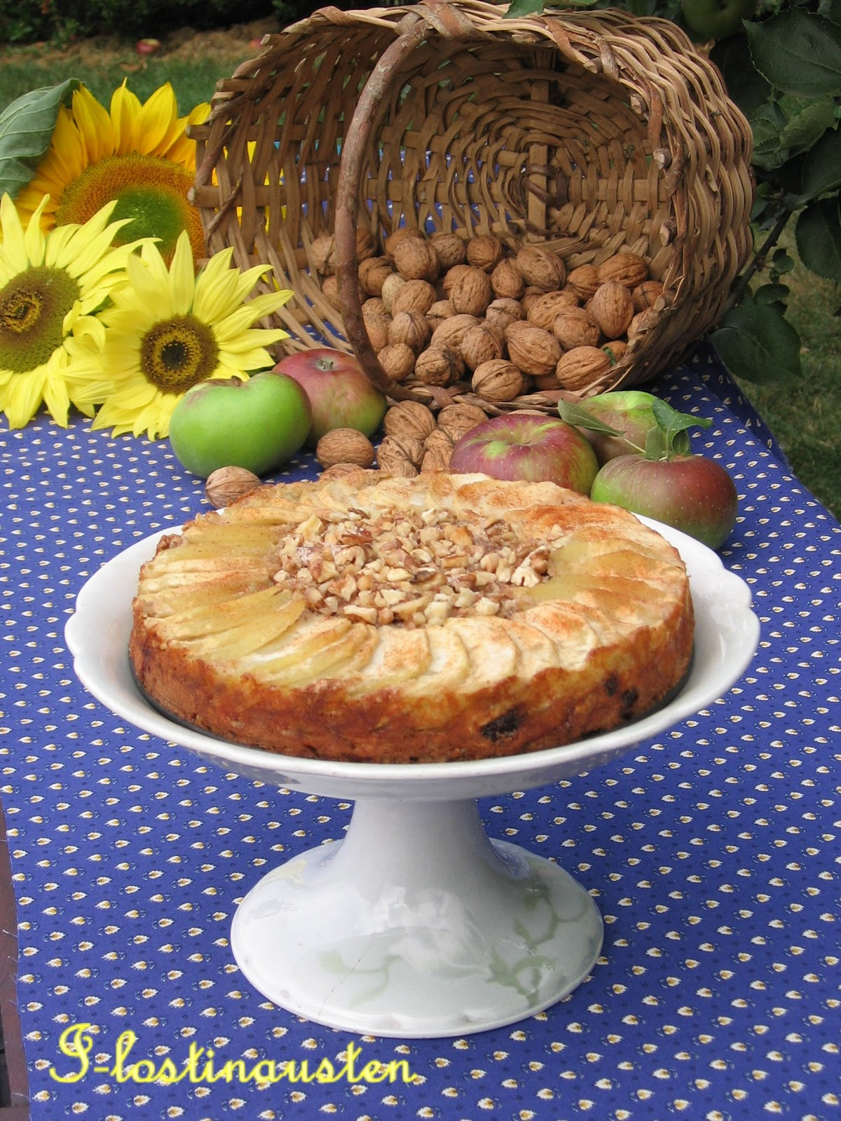 Lost in Austen: Cinnamon – Apple Walnut Torte
