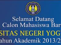 Pengumuman Hasil Seleksi Mandiri UNY 2013