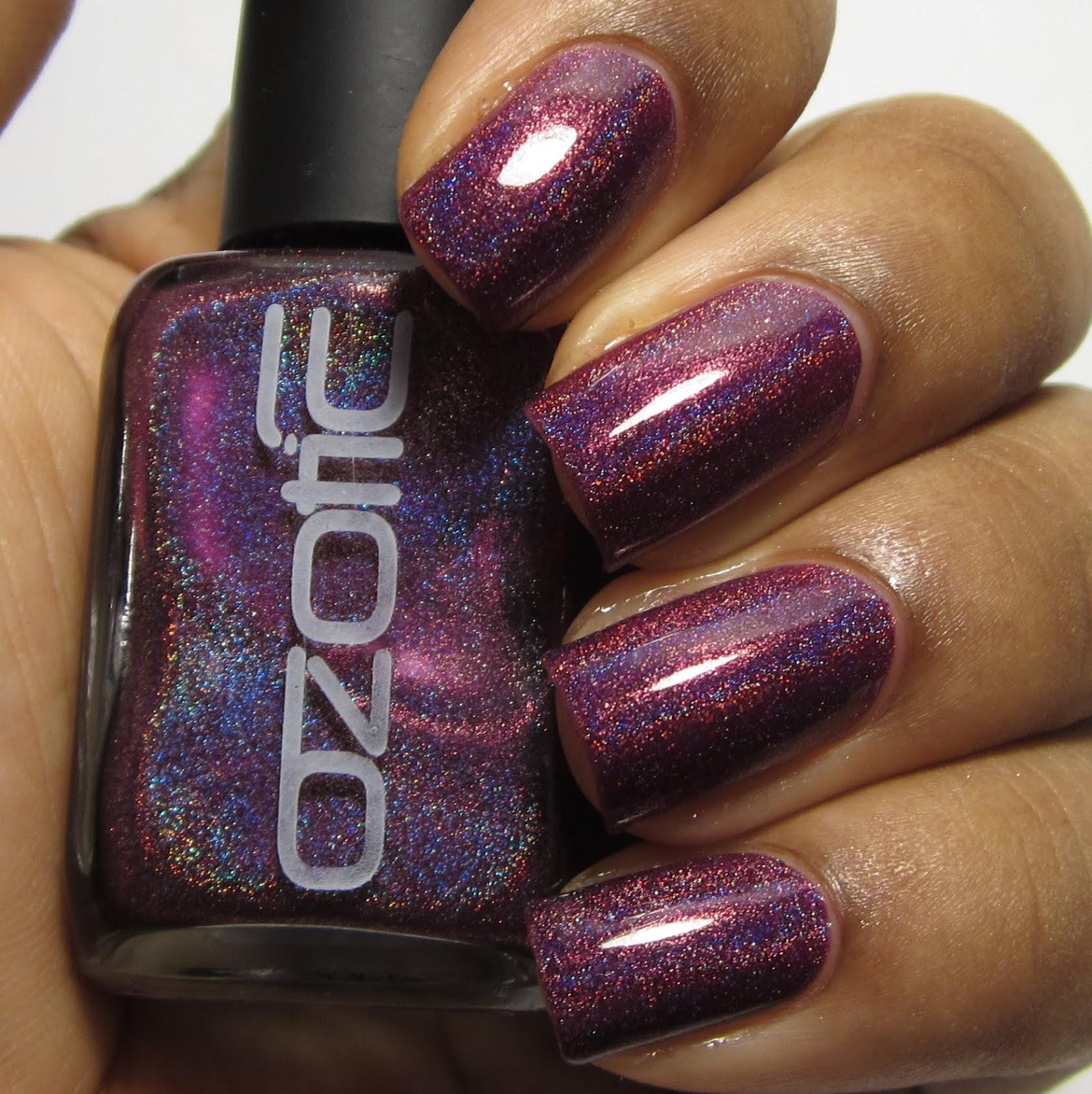 Ozotic Pro 513 holo nail polish swatch