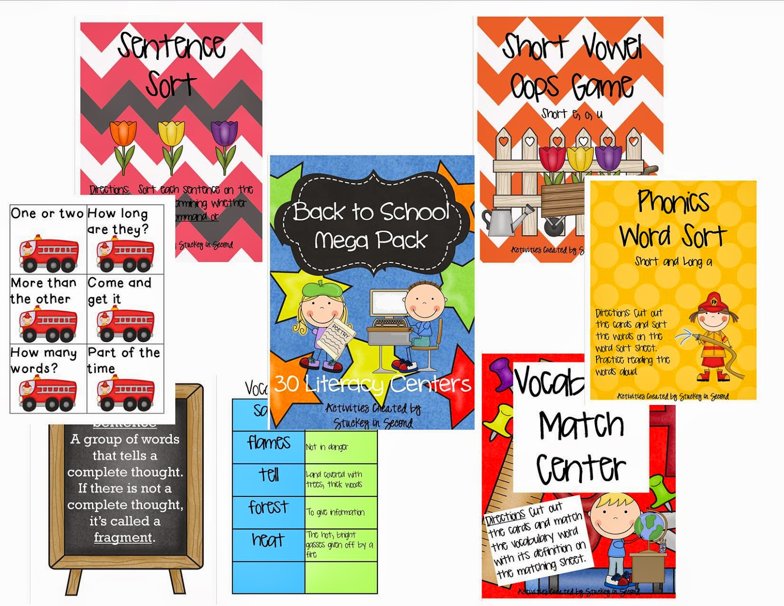 http://www.teacherspayteachers.com/Product/Back-to-School-Literacy-Centers-MEGA-PACKET-30-Centers-773475