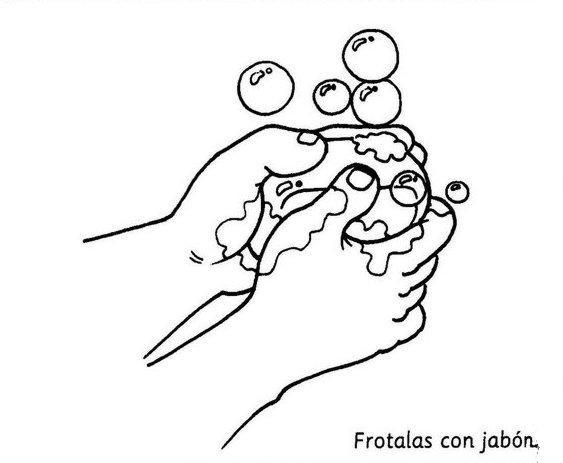 Dibujos para colorear del lavado de manos - Imagui