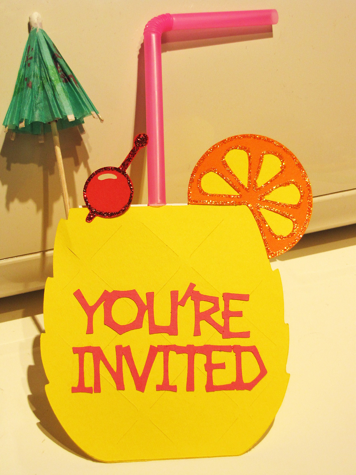 Indoor Beach Party Slider Invitations