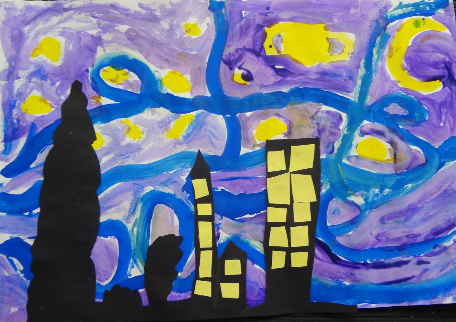 the talking walls van gogh s talking walls art with kids starry night for 2nd grade