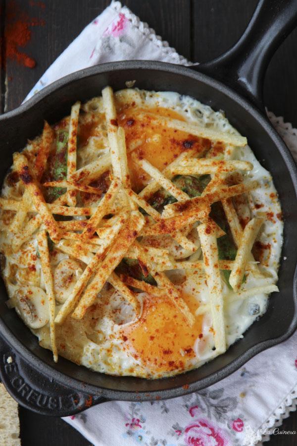 Huevos estrellados con pimentón de la vera