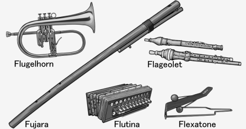 The names of musical instruments. F.....