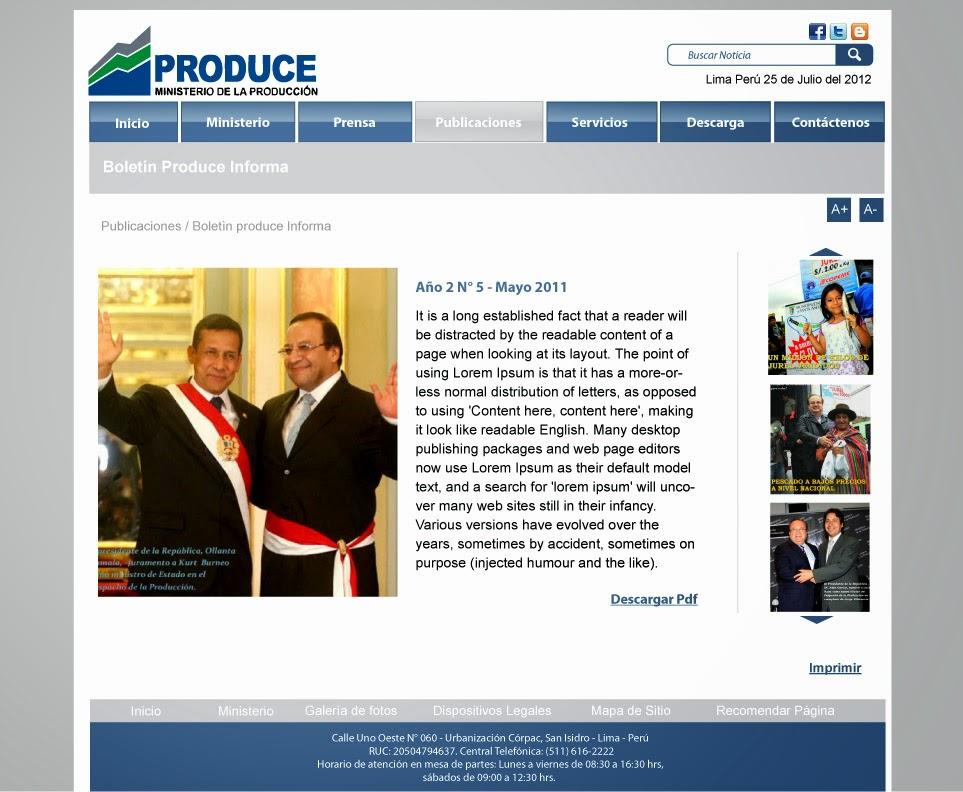 Steph desing dise o de la p gina web del ministerio de for Pagina del ministerio del interior