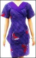 model baju batik perempuan