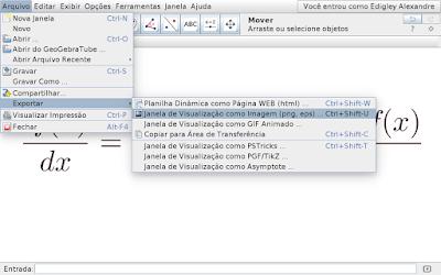 Clique em Arquivo, passe o cursor do mouse em Exportar