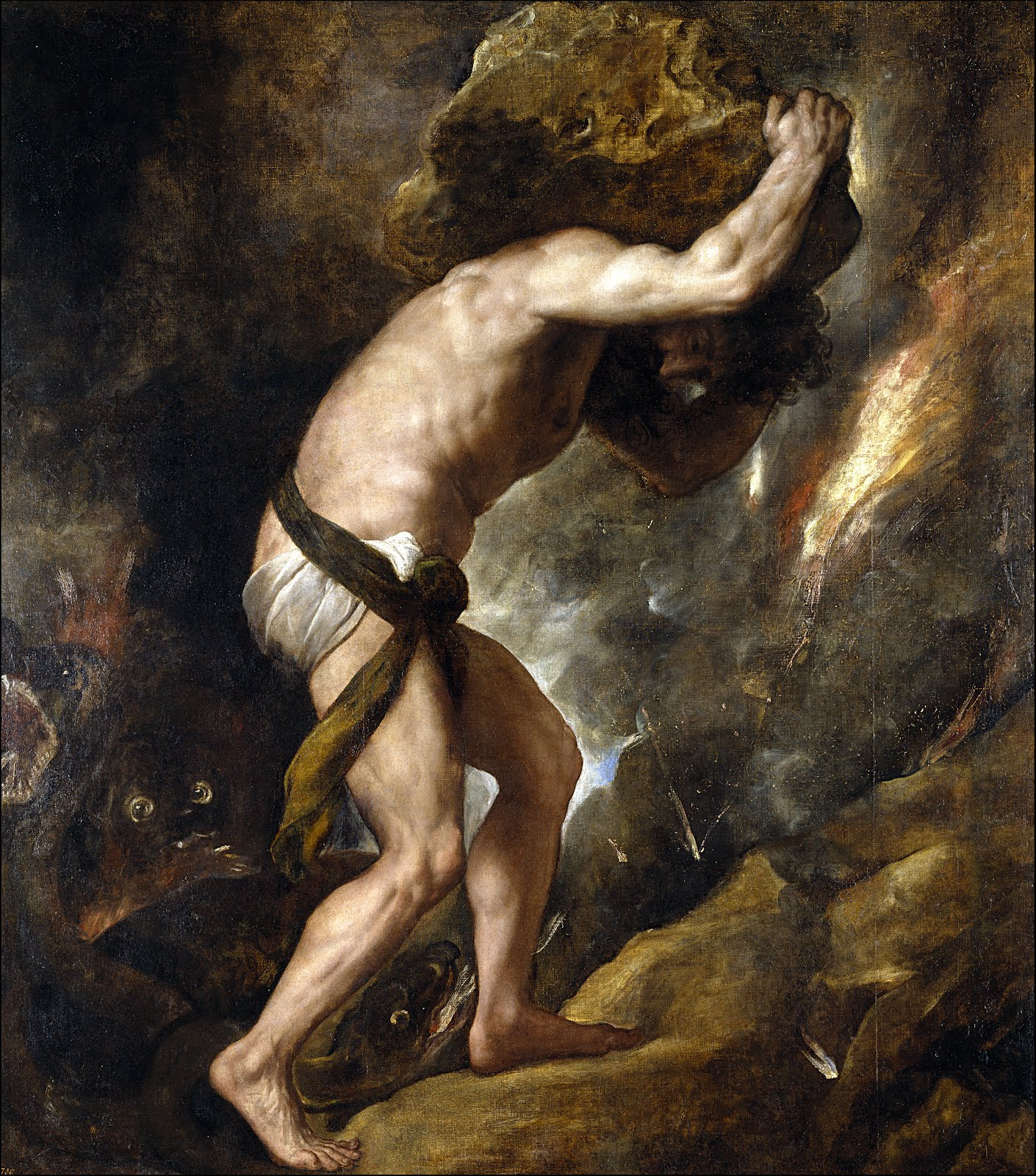 Sisyphus (by Titian, 1549) and his Revolt Against All Hope.