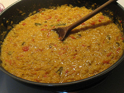 Spicy Urad Dal with Tomato and Fennel Seeds
