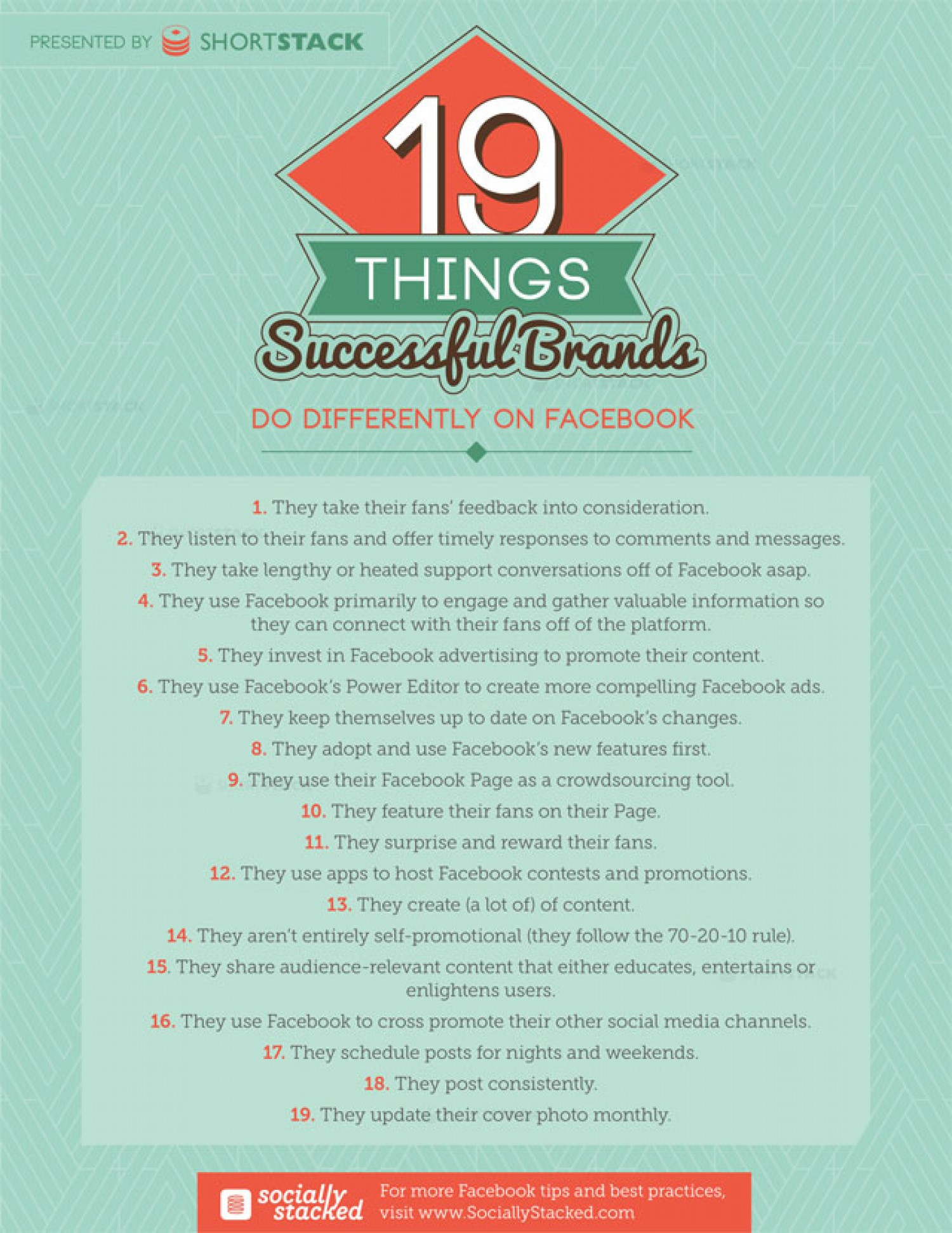 19 Things Successful Brands Do Differently on Facebook - infographic