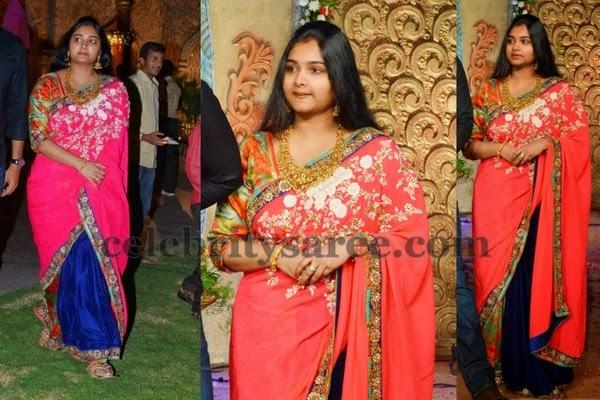 Hero Gopichand Wife Reshma Saree