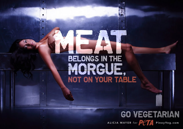 Alicia Mayer naked in the new PETA Ad