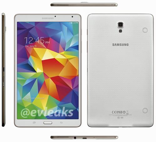 Spessore contenuto in soli 6,5 mm per il Galaxy Tab S 8.4