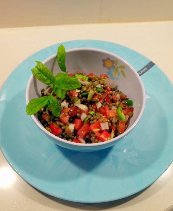 ensalada de lentejas con verduras