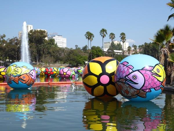 2015 MacArthur Park floating Spheres