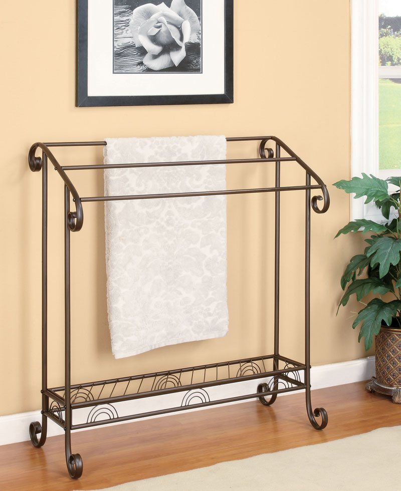 Fancy home decor metal bathroom towel racks place your for Rack for bathroom accessories