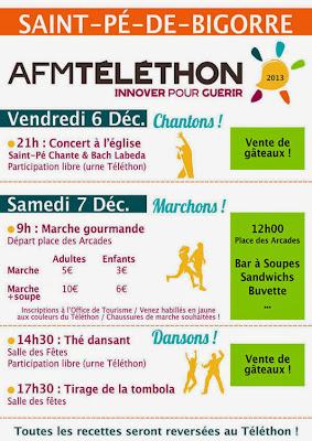 Téléthon 2013 à Saint Pé de Bigorre