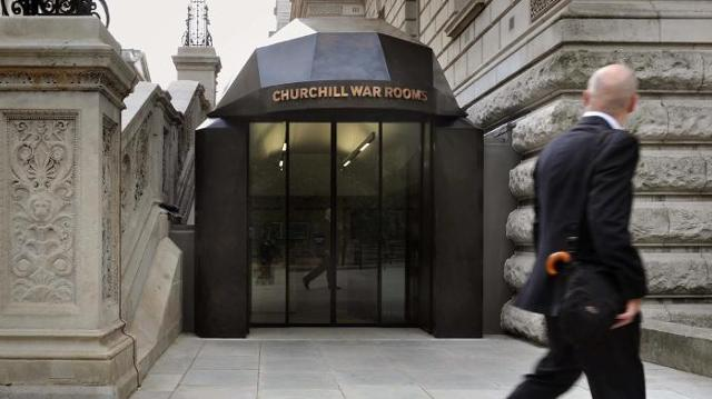 entrance to Churchill War Rooms in London
