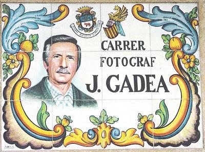 "28.05.17 CALLES-CARRERS DE LA CIUTAT DE MANISES: JOSÉ MARÍA GADEA LUJÁN ""GADEA"""