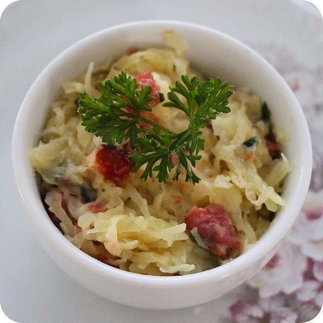 Batata Rosti c/ Queijo Parmesão e Bacon