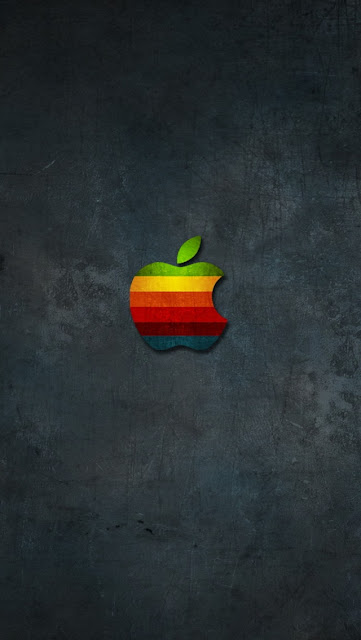 apple logo with grey background hd looking picture