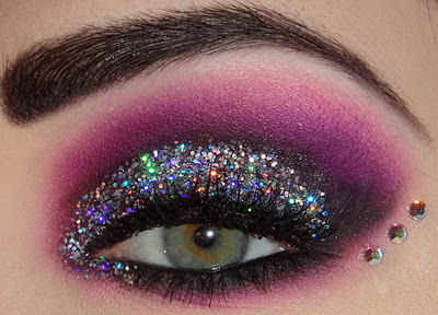 Maquiagem 3D glitter