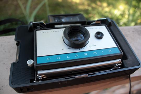 folded Polaroid Land Camera