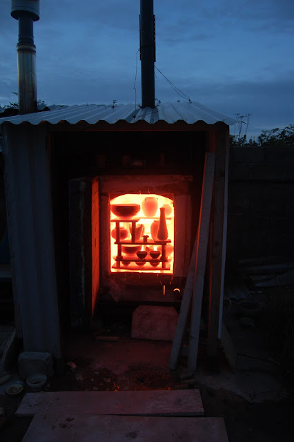 kiln glowing