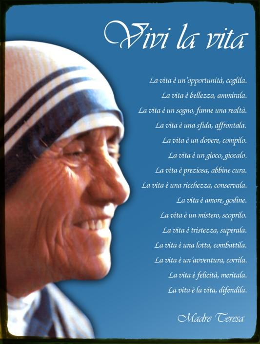 Eccezionale Pensieri Madre Teresa Di Calcutta LL37 » Regardsdefemmes JF22