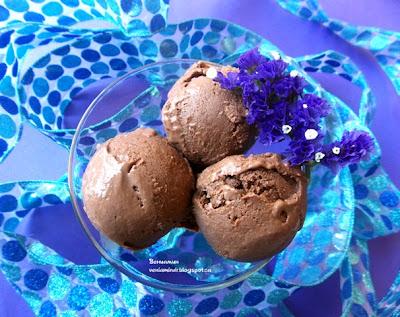 Шоколадное мороженое с филадельфией