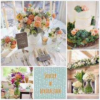 jaskier w dekoracjach weselnych