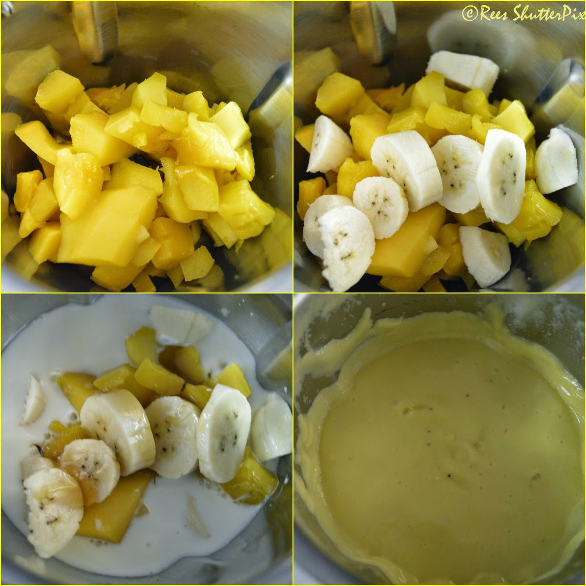 how to make smoothie at home,banana mango smoothie recipe