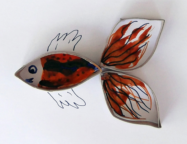 art with toilet paper rolls, crafts with toilet paper rolls, fish, kids, crafts, art