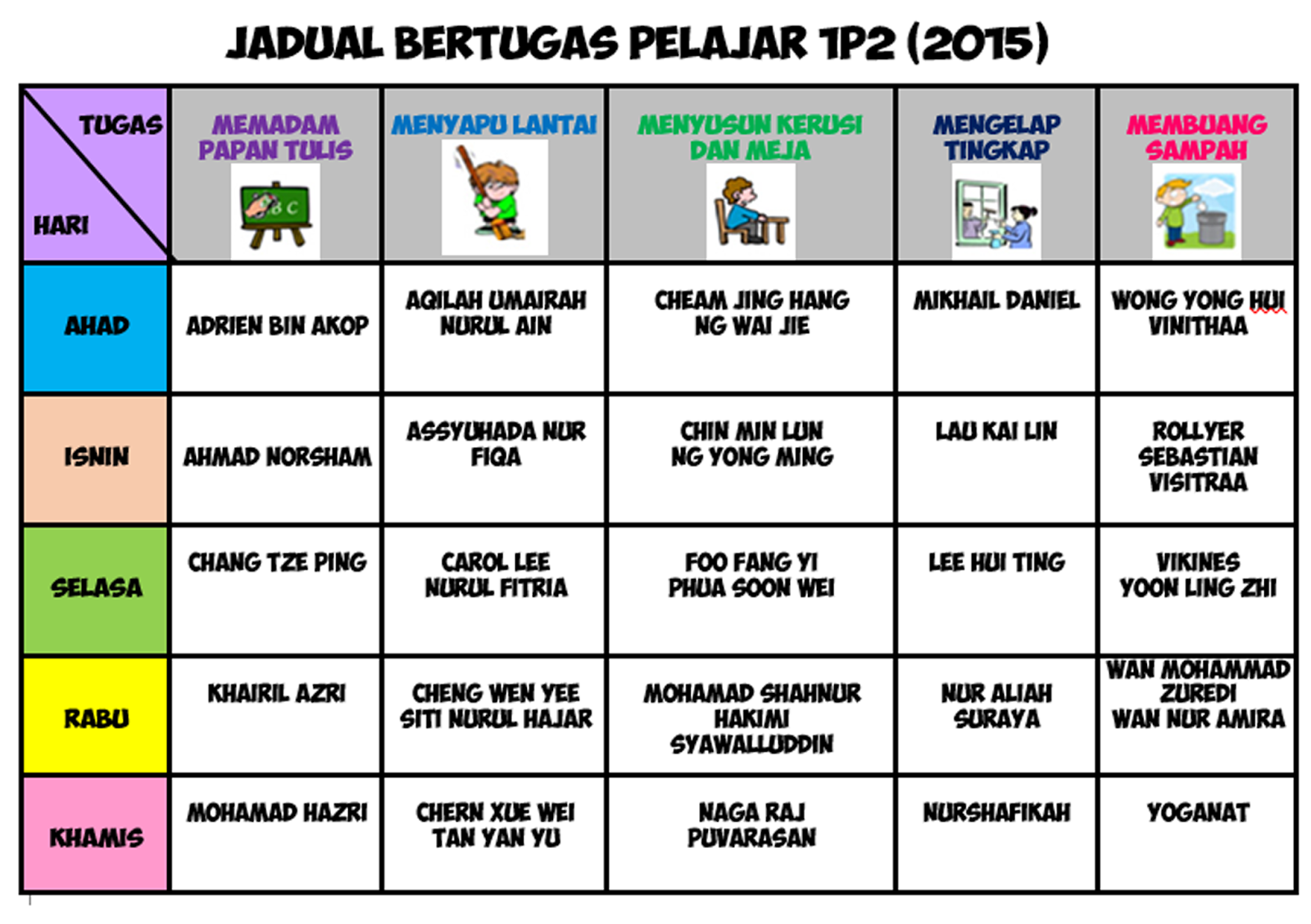 Templet Jadual | Search Results | Calendar 2015
