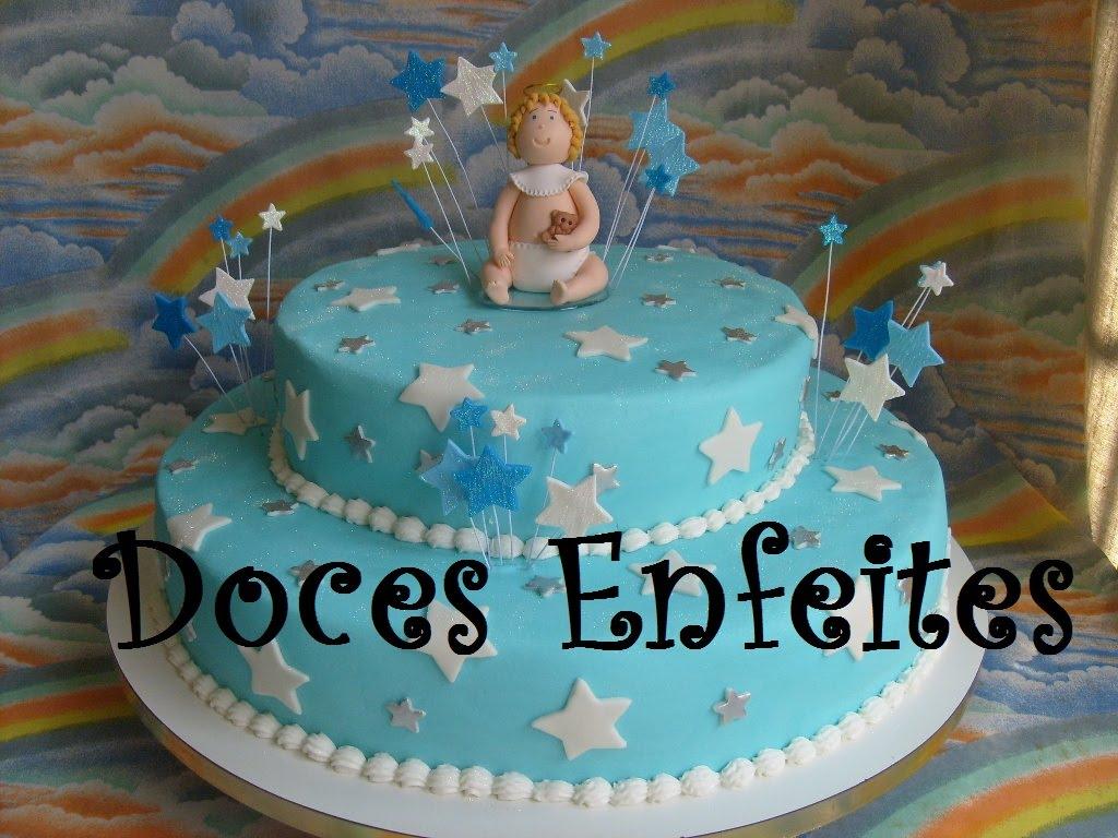 Enfeite De Bolo ~ Doces Enfeites Bolos e Biscuit Bolo do Anjinho Beb u00ea (topo de bolo em bisc