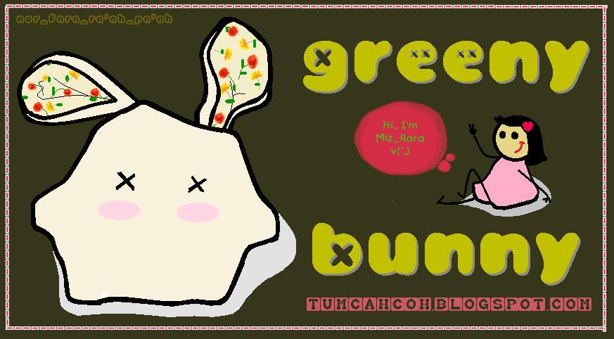 greeny bunny v(^^,)