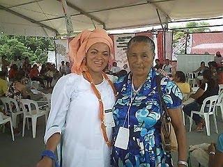 Zefa da Guia com a presidente da casa do perdão-PE
