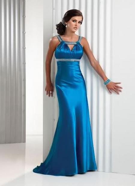Cute strapless flat appliques beads working pleated tea length ball gown wedding blue dress bgwd 117