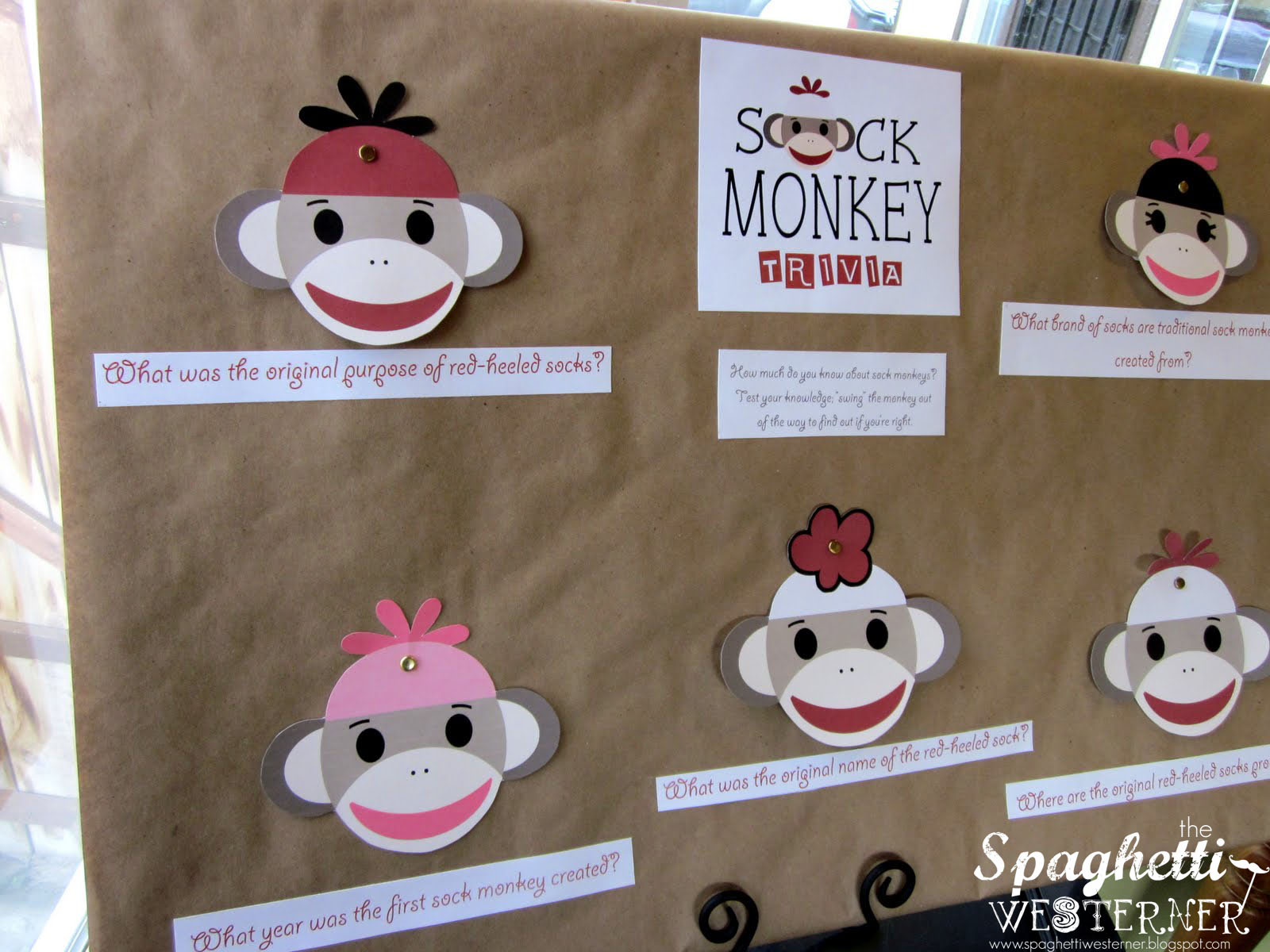 spaghetti westerner free printables sock monkey first birthday