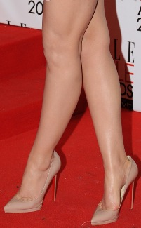 Emma Watson Legs and Toe Cleavage