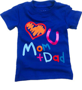 Wording Tee Love U Mom & Dad