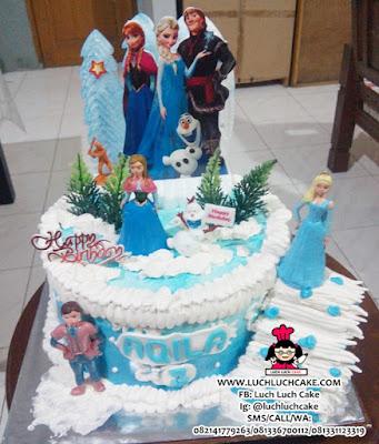 Disney Frozen Cake Daerah Surabaya - Sidoarjo